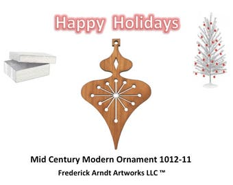1012-11 Mid Century Modern Christmas Ornament