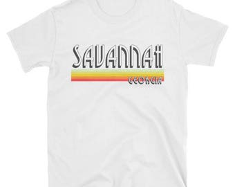 Savannah Georgia T Shirt Vintage GA Lines