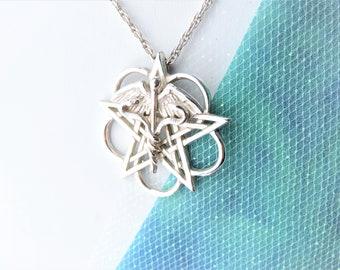Medical Symbol Necklace Sterling Silver