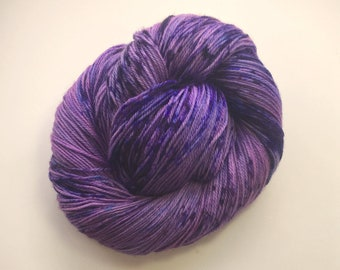 80/20 Superwash Merino/Nylon Sock 3/10- Violet's Red