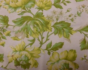 Ivory bouquet fabric in yellow and green flowers
