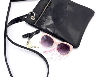 Travel Bag, Cross Body Bag, Vegan Bag, Vegan Leather, Shoulder Bag, Vegan Gift, Vegan Handbag, Handbag, Leather Bag, Black, Gift For Her