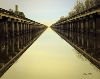 Louisiana Photography, surreal photography, louisiana bayou, bayou art, louisiana decor, atchafalya bridge, atchafalya basin, large wall art