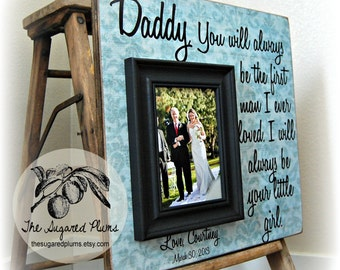 Wedding Present for Dad, Daughter to Father Gift, Personalized Picture Frame, 16x16 The Sugared Plums Frames