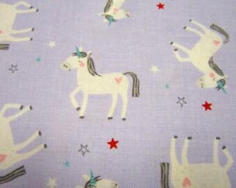 Riley Blake Lavender Unicorn Fabric Called Princess Dreams