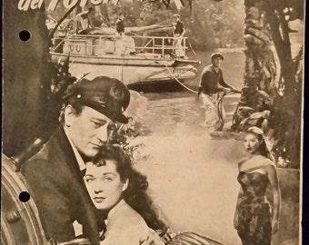 Original 1949 Wake Of The Red Witch Austrian Movie Poster Program, Herald, Pressbook, John Wayne