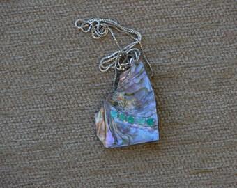 Emerald  Abalone Necklace