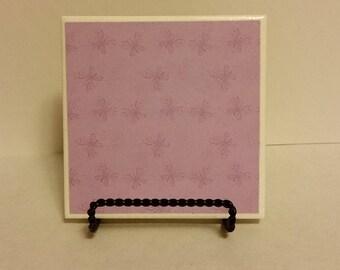 Purple Butterflies set of 4 ceramic coasters