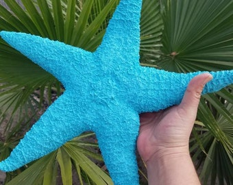 "Colored Giant Starfish Super Large Sugar Star Fish FREE SHIPPING Island Style Coastal Home Decor 11 12 13 14 15 16"" DIY Mantle Shelf Display"