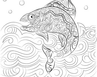 A Fish coming out of the water Instant Digital Download