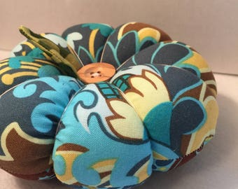 Blue Floral Patchwork Pin Cushion