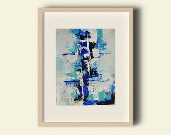 Original Abstract acrylic paint. Small series, abstract pictures, in acrylic. Painting 210 x 297 mm A4