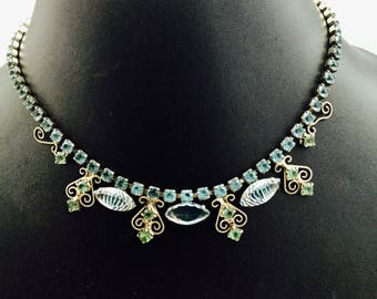 1940's Rhinestone Necklace