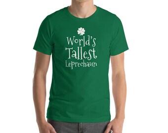 World's Tallest Leprechaun St Patrick's Day Men's Premium Short Sleeve T-Shirt