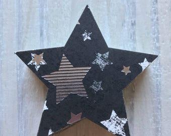 Black and Silver Stars, Rockstar, Confetti, Table, Party, Grammies, Birthday, Awards, Stars