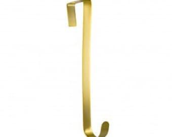 Gold Tone Metal Wreath Hanger, Over Door Wreath Hanger, Wreath Holder