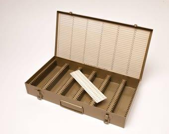 Vintage LOGAN 35mm All Metal Slide Case - New in the Original Box - Holds 300 Slides - 3 Available
