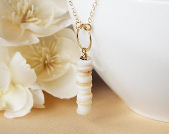 Shell necklace natural shell necklace real shell necklace seashell gold shell necklace beach summer necklace shell jewelry one of a kind