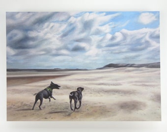 Art Print - Dogs on the Beach