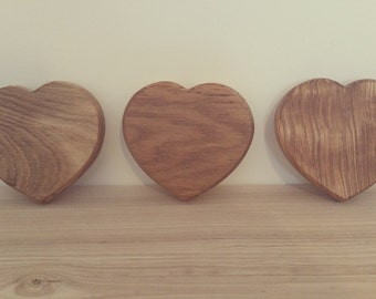 Solid Wooden Hearts Ideal decoration or coasters