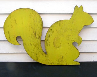 Wooden Squirrel Sign Squirrel Woodland Sign Animal Sign Oversized Large Sign Nursery Art