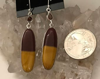 Mookaite & Garnet  Earrings