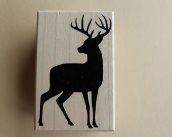 Stamp wood deer