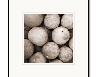 Black and white photography, sepia prints, Philippines island, Cebu, Pumelo grapefruit citrus, tropical island fruit, Asian food restaurant