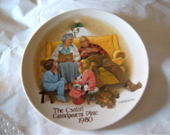 Knowles Csatari Grandparent Series - The Bedtime Story - 1980 Collector's Plate