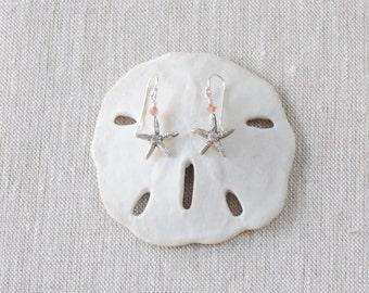 Fine Silver Starfish Earrings