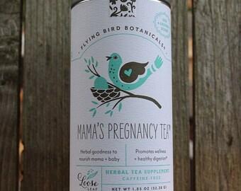 0416 Mama's Pregnancy Tea, Loose Leaf herbal tea made with 100% organic herbs
