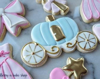 Princess & Pumpkin Coach Sugar Cookies