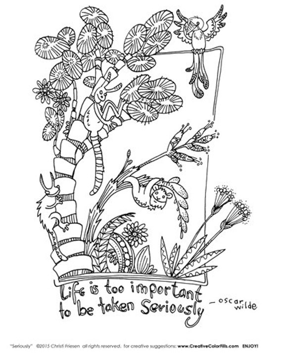 Colorfill - Coloring Page - by International artist Christi Friesen Seriously