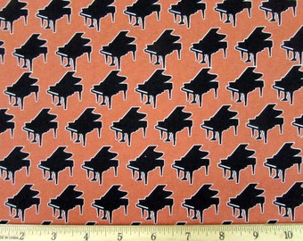 Dan Morris Perfect Pitch Piano Copper Fabric From RJR