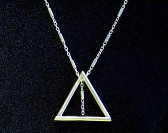 Silver triangle and chain