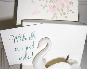 Lenox China Ivory Swan Individual Salt - For the Bride - In Original Gift Box
