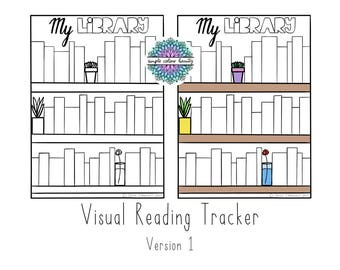 PRINTABLE Bookshelf: Visual Reading Tracker
