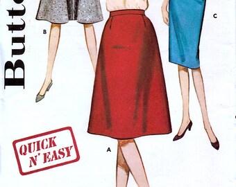 Butterick 2716 Vintage 60s Teen Skirt Sewing Pattern - Uncut - Waist 28 - Hip 38