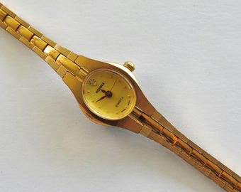 Modernist Gold tone Watch Rohina Japan