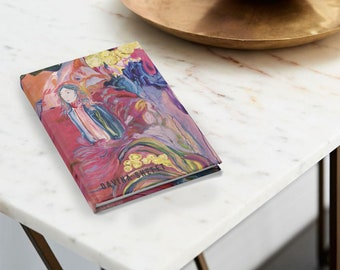 Journal Blank Pages With Art Print On Hardcover Stationery