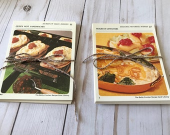 Vintage Betty Crocker Recipe Cards