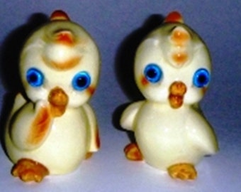 Vintage Duckie Salt And Pepper Shakers