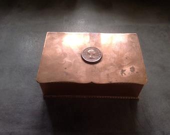 George III copper hinged box  1800s