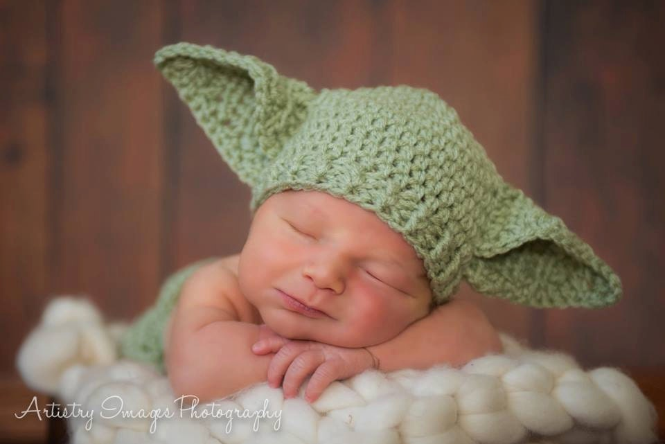 ORIGINAL Star Wars Hat Baby Yoda Newborn 0 3m 6m Crochet Photo