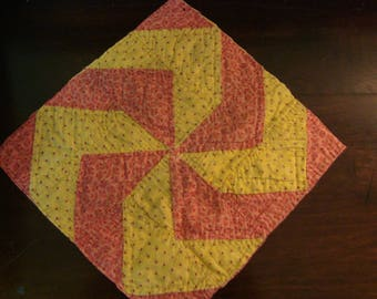 Antique Early 1900 Pinwheel Quilt Block ~ Use for Fabric Art or Spring Crafts