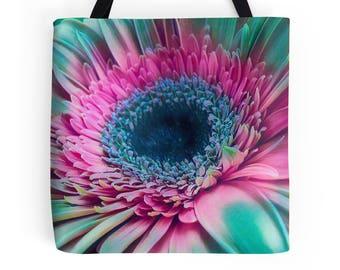Colorful Gerbera Daisy Bag, Gerbera Daisy Purse, Orange Daisy Tote Bag, Daisy Print, Daisy Print, Daisy Photo, Flower Print, Daisy Bag