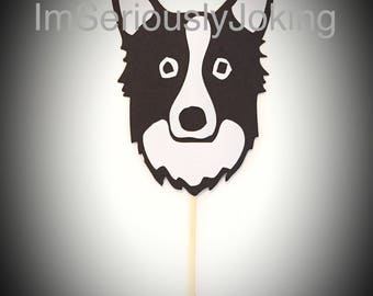 Cupcake Toppers-12 Welsh Sheepdog Cupcake Toppers- Birthday party-dog party-puppy-mans best friend-rescue dog