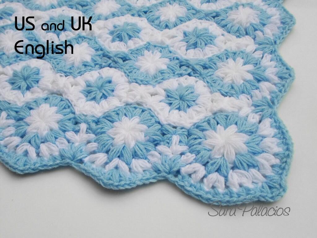 Patrón de Crochet de Manta de bebé Estrellas en el
