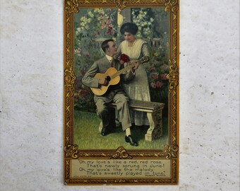 Early 1900's Romantic Post Card