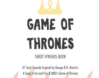 Spreads Book | The Game of Thrones Tarot Spreads Book | 31 Spreads | Doodled Edition